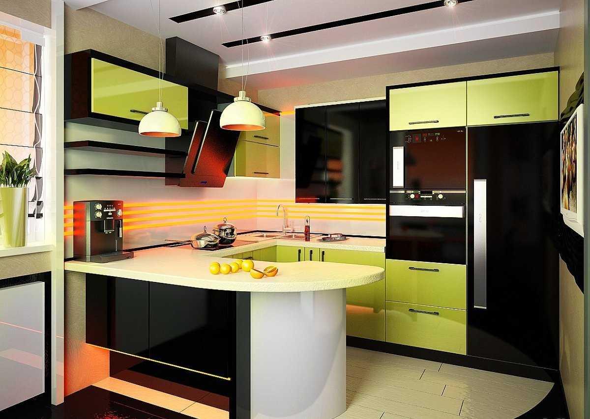 Кухня ниша в квартире студии фото пол