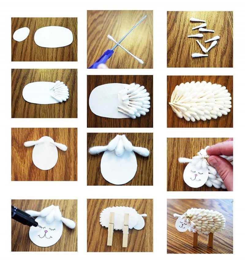 Поделки из ватных палочек: простые и оригинальные игрушки ...  Красивые Поделки из Бумаги И Как Их Делать