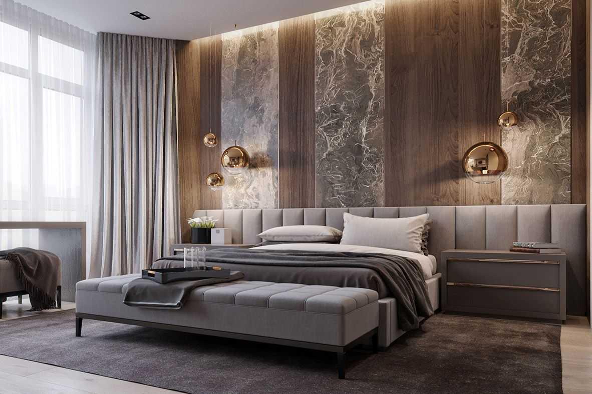 Стильные спальни в квартире фото